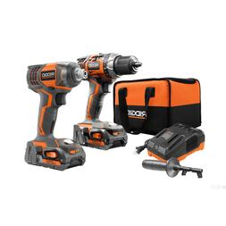 18-Volt Lithium-Ion Cordless Drill/Driver and Impact Driver