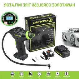 18V Cordless Tire Inflator Portable Recharge Li-on Air Compr