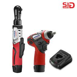 ACDelco 2-Tool Kit- 3/8 Cordless Ratchet Wrench + 3/8 Impact