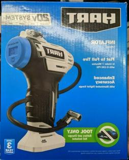 Hart 20-Volt Cordless Inflator Tool Only Enhanced Accuracy -