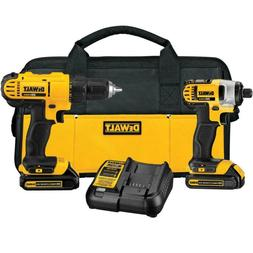 20-Volt MAX Lithium-Ion Cordless Drill/Driver and Impact Com