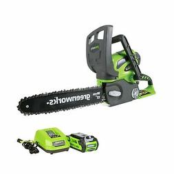 Greenworks 20262 40V G-Max Cordless Lithium-Ion 12-in Chain