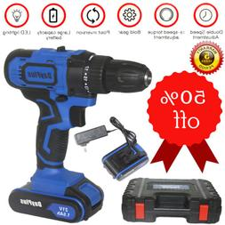 Dayplus 21VLi-ion Battery 2Speed Cordless Electric Drill Pow