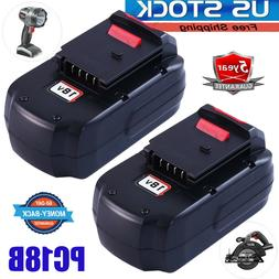 2Pcs 18-Volt NiCD Replacement Battery for Porter Cable PC18B