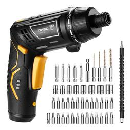 Cordless Electric Screwdriver LED Rechargeable Power battery