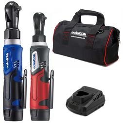 """ACDelco G12 1/4"""" & 3/8"""" Cordless Ratchet Wrench Combo Tool K"""