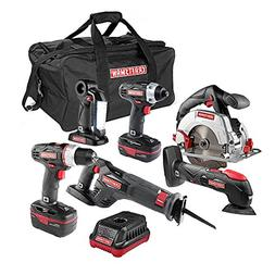 6-pc. 19.2V C3 Combo Cordless Power Tool Kit w/ Lithium-Ion