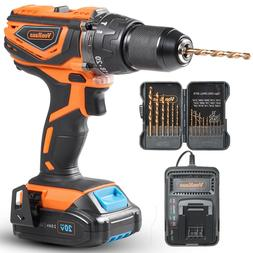 """VonHaus Cordless Drill Driver 1/2""""with Hammer Drill, Battery"""