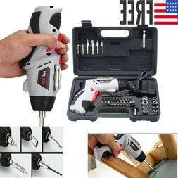 Cordless Drill Driver Rechargeable Handheld Electric Screw D