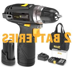 Drill Driver Set Compact Cordless With Li-Ion Battery Power
