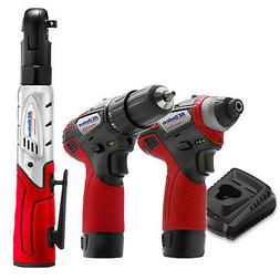 """ACDelco G12 3-Tool Cordless Combo 3/8"""" Ratchet Wrench+Drill+"""
