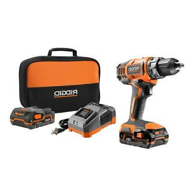 RIGID 18-V Lithium-Ion Cordless 2-Speed 1/2 in Compact Drill