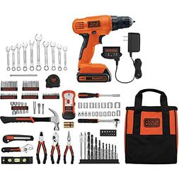 Black & Decker 20V Lithium Home Project Kit with 128-Piece A