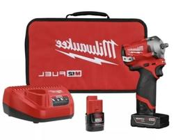 Milwaukee M12 2554-22 12-Volt FUEL 3/8-Inch Cordless Stubby