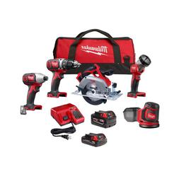 M18 18-Volt Lithium-Ion Cordless Combo Kit  with 2-Batteries