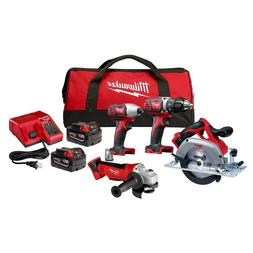 M18 Lithium-Ion Cordless Combo Tool Kit  with Two 3.0 Ah Bat