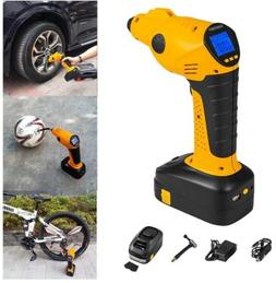 NAKOBO Portable Air Compressor Cordless Tire Inflator with D