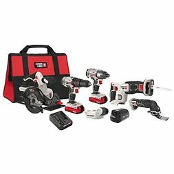 PORTER-CABLE PCCK617L6 20V MAX Lithium Ion 6-Tool Combo Kit