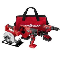 PS76400C  20V Cordless 4-Tool Combo Kit with  1.5Ah Batterie