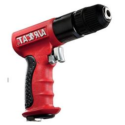 AIRCAT 4338 3/8-Inch Red Composite Reversible Power Drill Wi