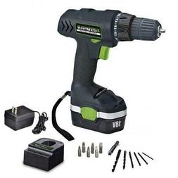 18 Volt Cordless Drill / Driver Kit With Bits