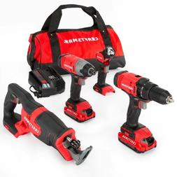 CRAFTSMAN V20 4-Tool 20-volt Max Lithium Ion  Cordless Combo